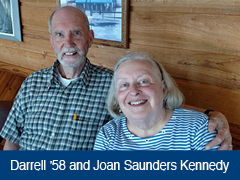 Photo of Darrell '58 and Joan Saunders Kennedy.