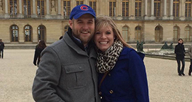 Photo of Matt '04 and Jennifer '06 Adams. Link to their story.
